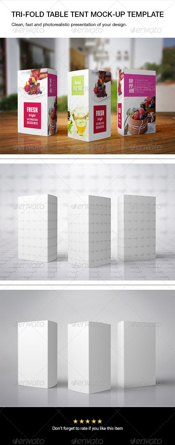 tri fold table tent mock up print product mock ups design
