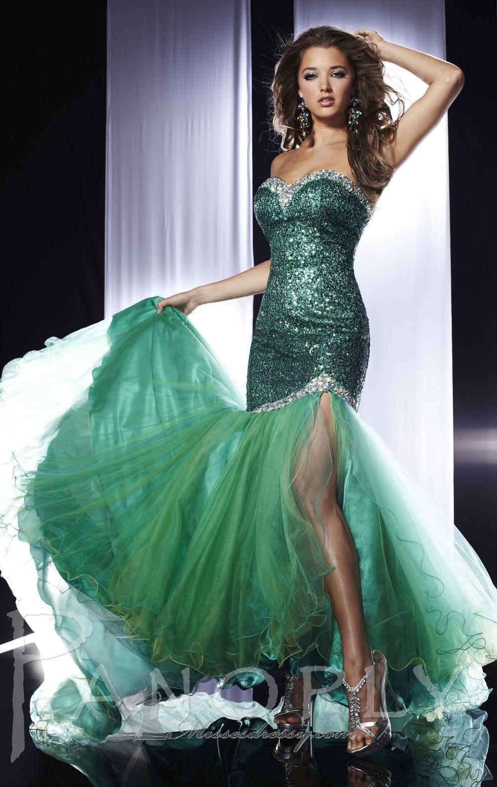 Elegant sequins mermaid thigh high slit evening dress | wedding ...