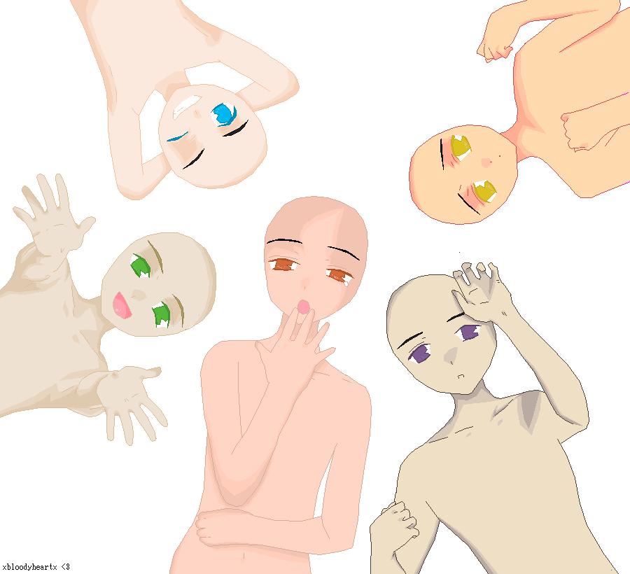 Group Base 01 Drawing Base Anime Poses Drawing Tutorial Face