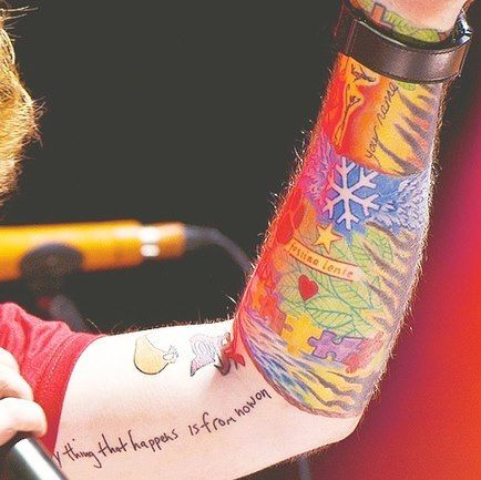 Ed Sheeran S Tattoos Notice It Says Your Name If You Re A