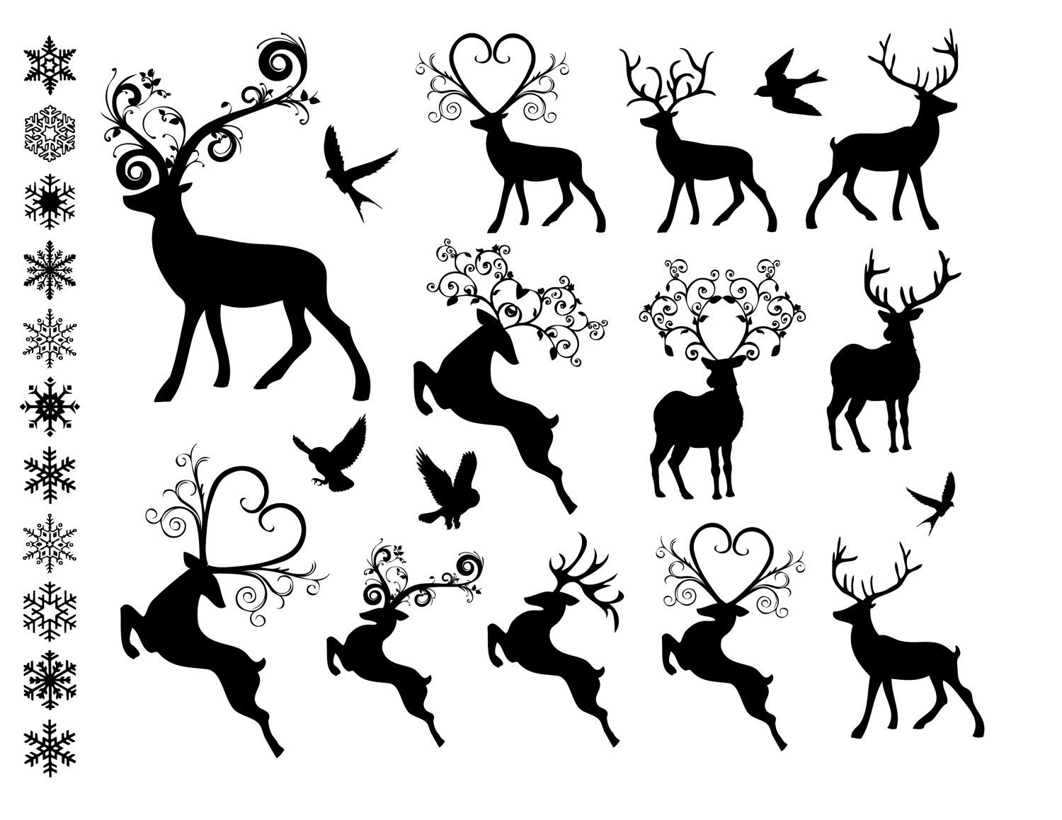 40 Awesome Fancy Reindeer Clipart