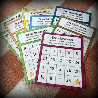 Einmaleins-Bingos (Endlich Pause 2.0) #math