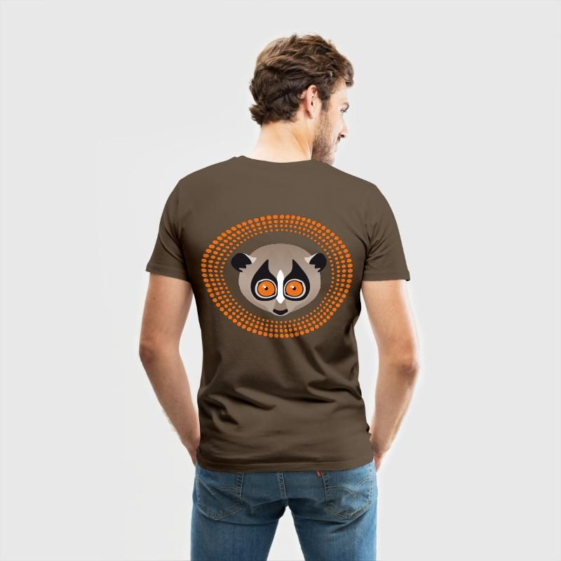 Lori am Tag Männer Premium T-Shirt - Edelbraun   T-Shirt Motive ... 7e34fca34183