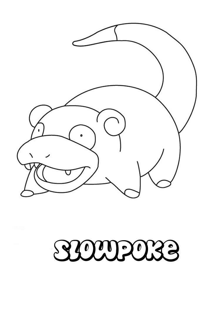 Slowpoke Pokemon coloring page. More Water Pokemon Coloring sheets ...