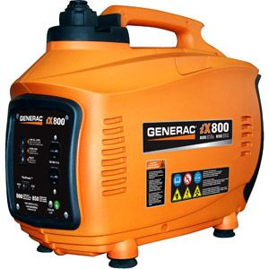 Generac 5791 iX800, 800 Watt Gas Powered Portable Inverter Generator (CARB Compliant)