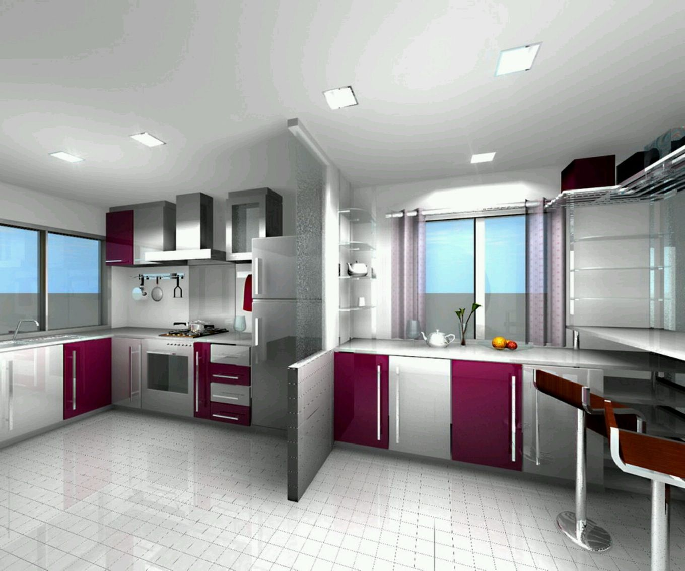 Kitchen design for indian style - Your Favorite Dark Pink Color Indian Style Modular Kitchen Design From Modern Interior Concepts At Best