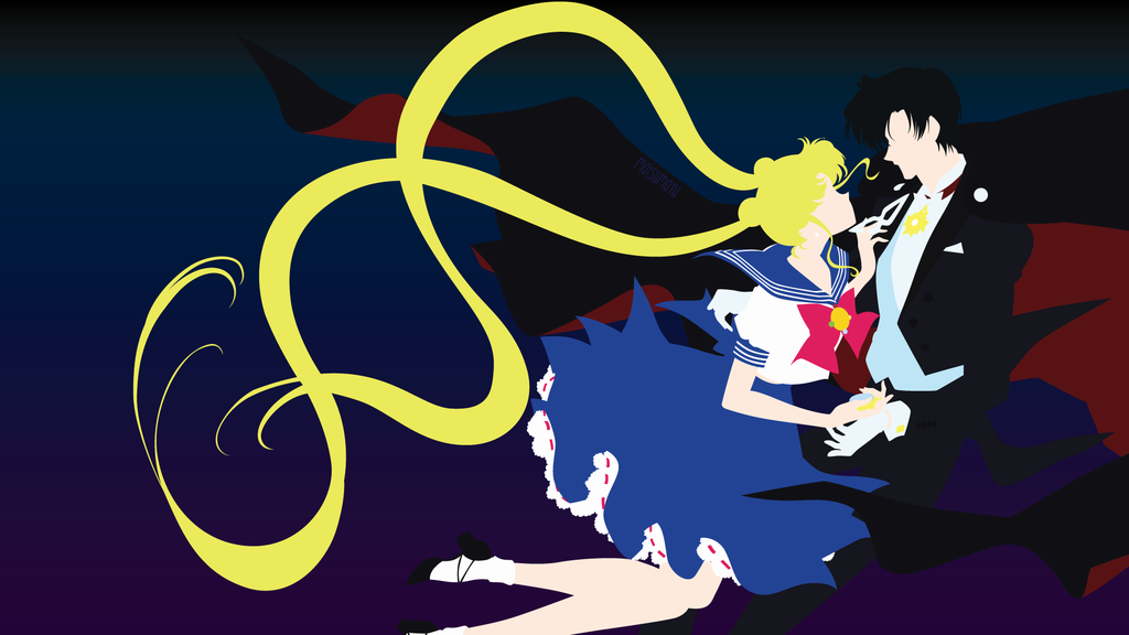 Tuxedo Kamen And Usagi From Sailor Moon Minimalist Sailor Moon Crystal Sailor Moon Sailor Moon Wallpaper