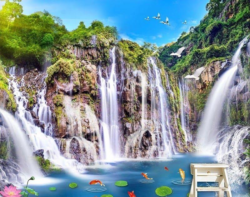 Paling Hits 30 Wallpaper Pemandangan Alam 3d Foto Wallpaper Gaya Cina Klasik Hd Air Terjun Kolam Ikan Yang Indah Pemand Di 2020 Pemandangan Latar Belakang Foto Alam