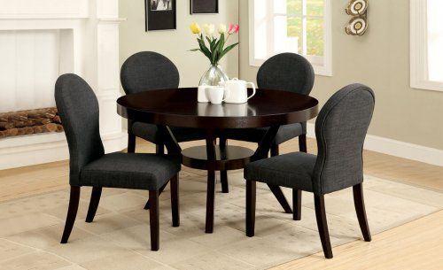 GB3423T+GB3425SC - Catalina Contemporary Design Dining Table + 4 Chairs - Furniture2Go $449