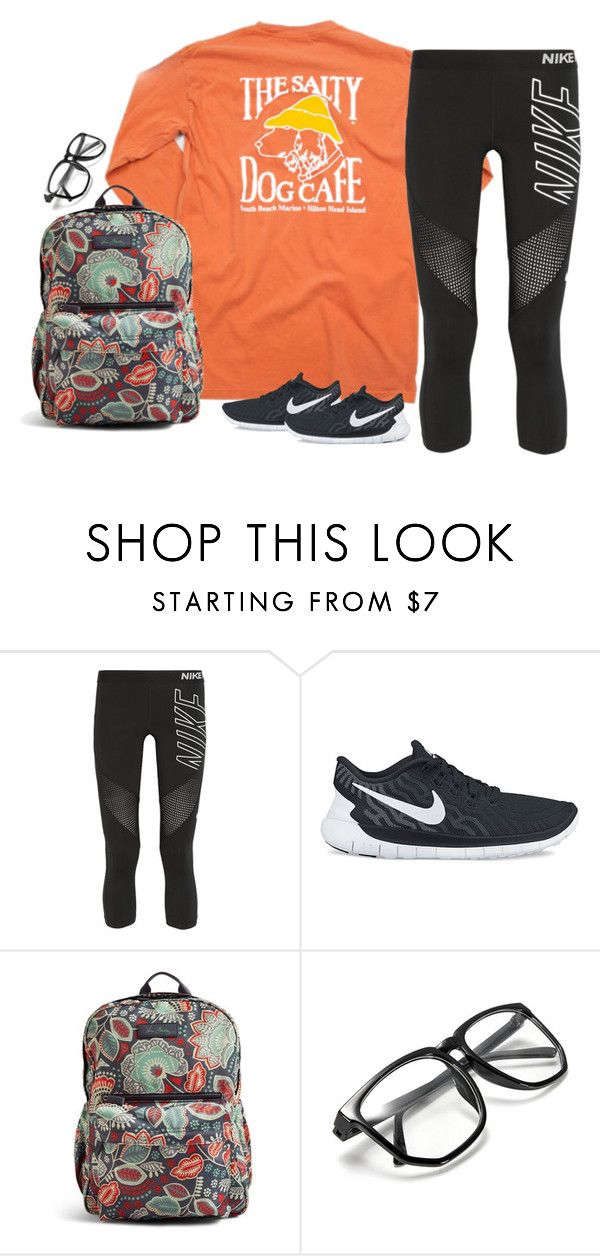 """""""Untitled #1614"""" by southernstruttin ❤ liked on Polyvore featuring NIKE and Vera Bradley"""