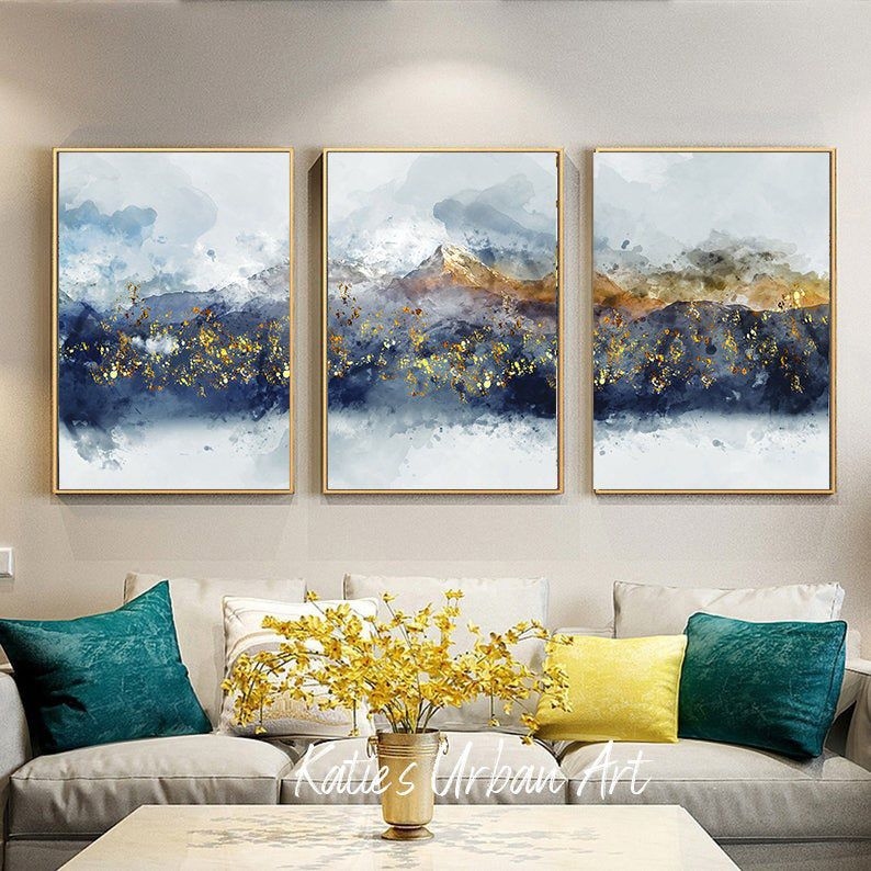 Mountain Wall Art Abstract Mountain Poster Modern Mountain Etsy In 2021 Wall Decor Printables Mountain Wall Art Blue Wall Decor