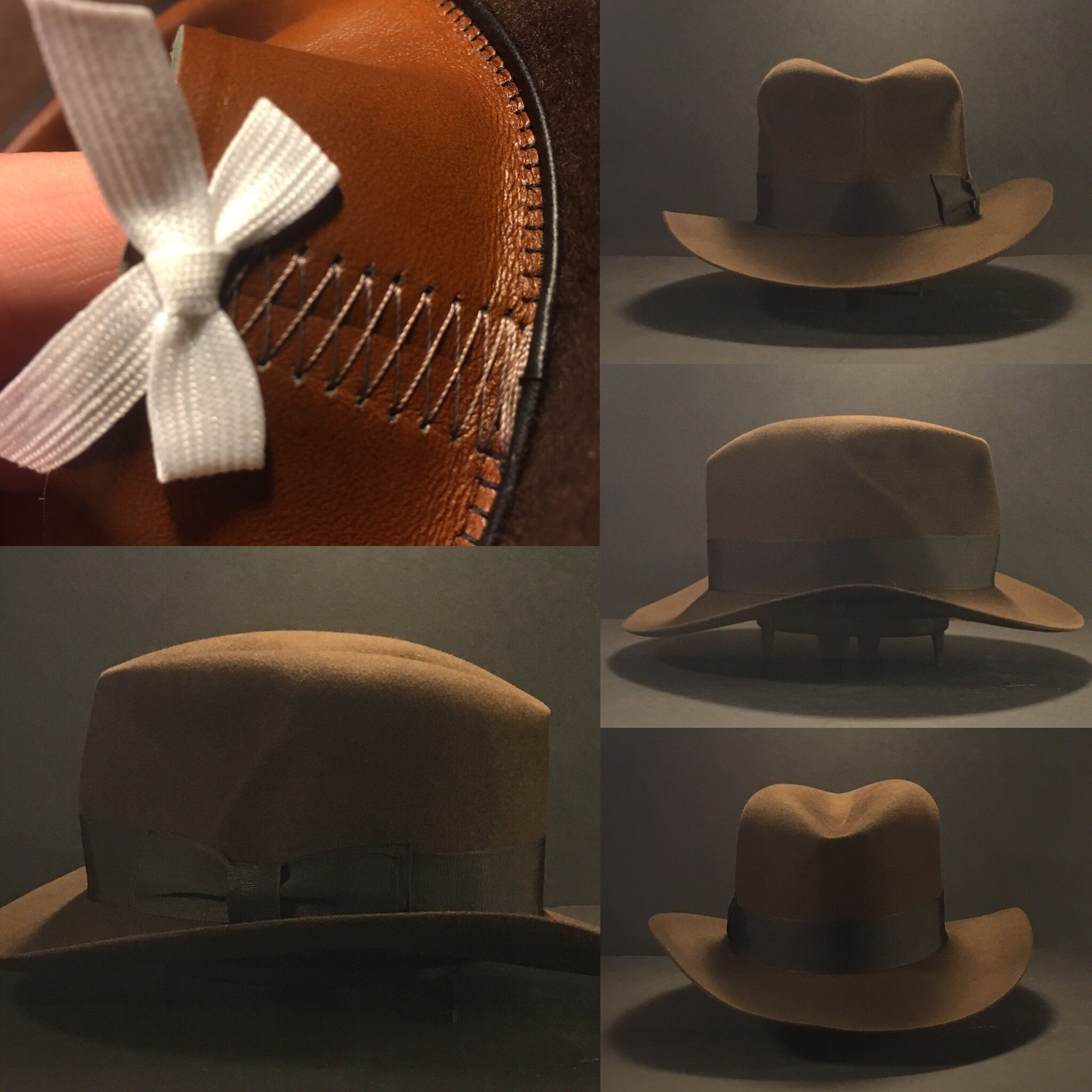 Just finished this Indiana Jones Raiders of the Lost Ark hat. Every hat is  cut using a special tool based off a HJ Richard Swales fedora. aab79b4f2c48