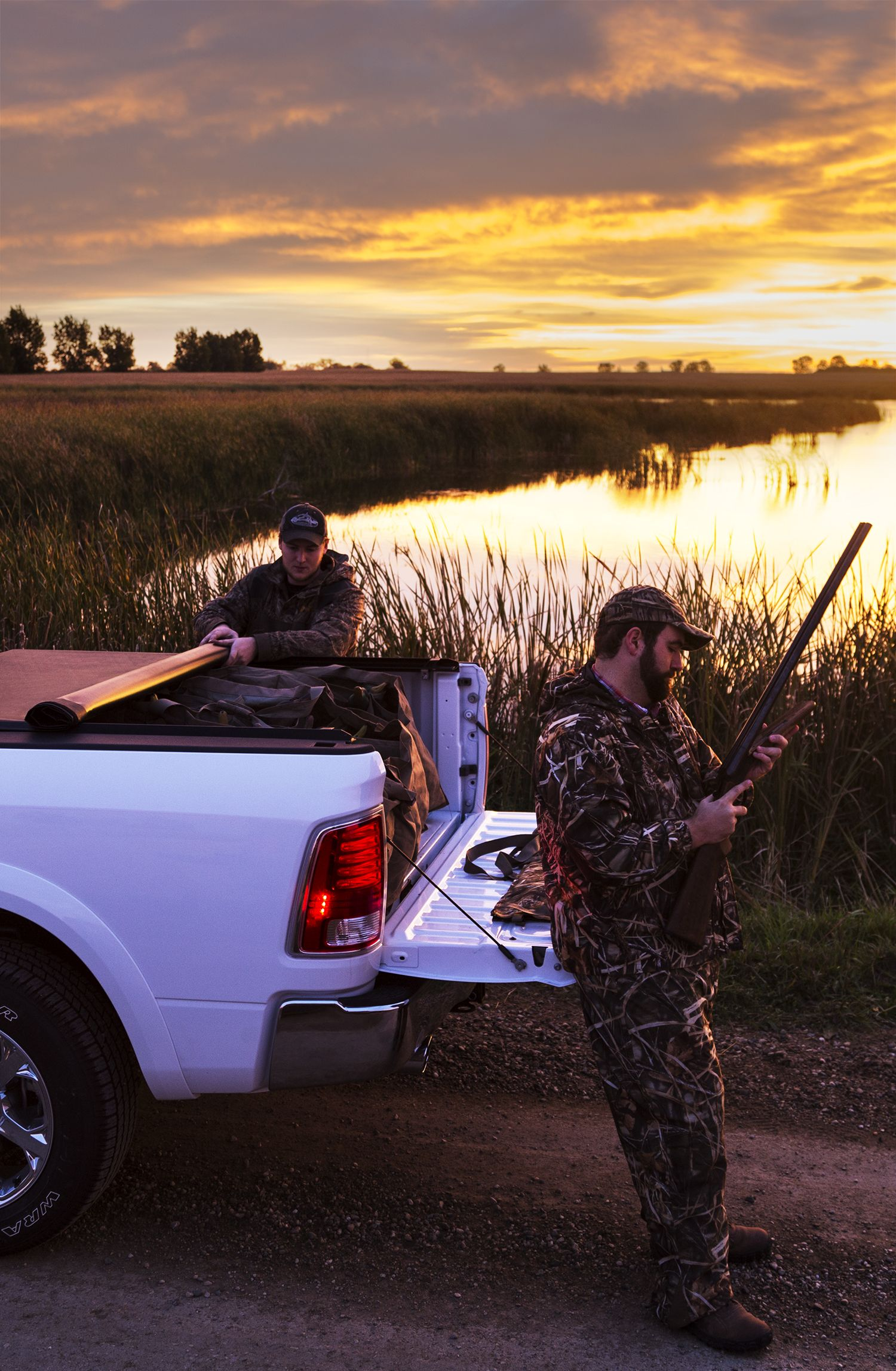 If you're hunting waterfowl, keep your gear under a