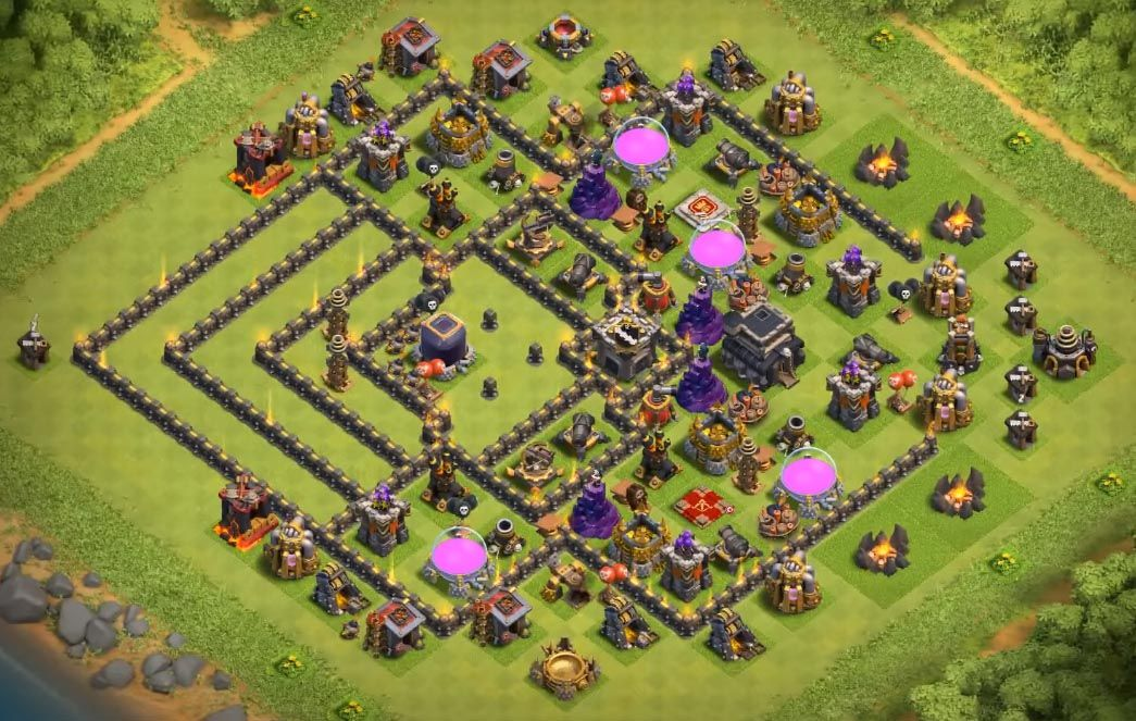 Best Th9 Dark Elixir Farming Base 2019 Base Coc Th 9 1