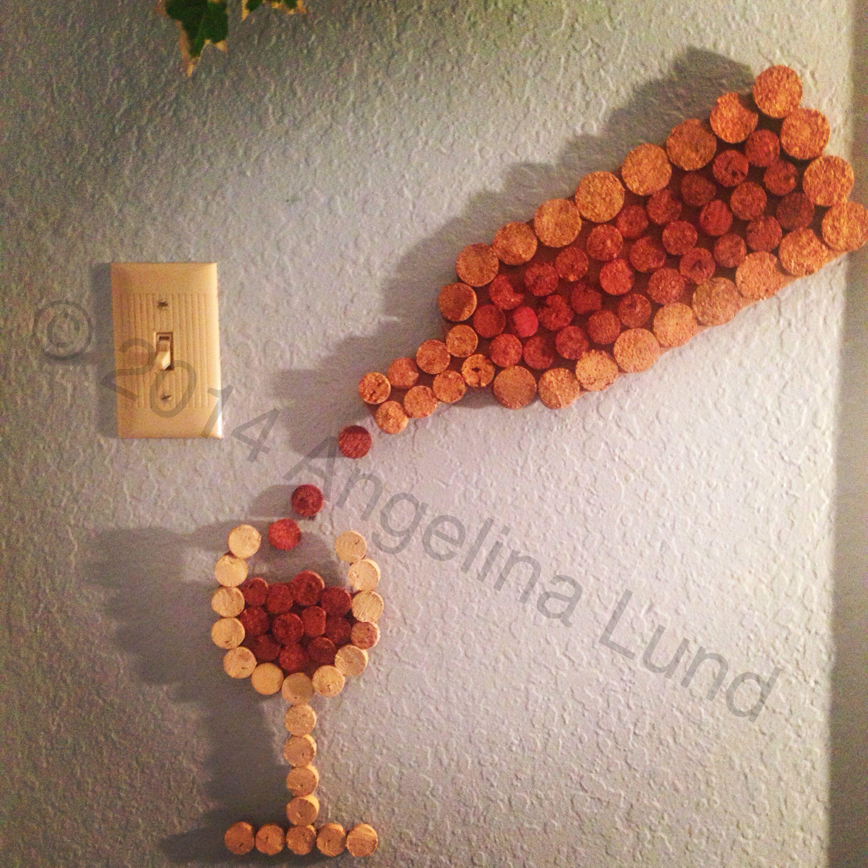 Wine bottle corks crafts - Diy Wine Cork Project Wine Glass Bottle Wall Decor