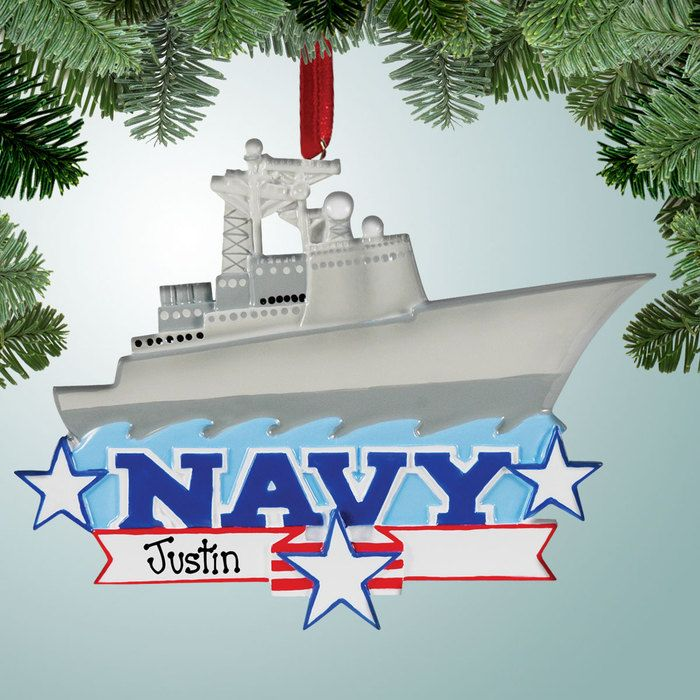 Naval Christmas Ornaments.Navy Aircraft Carrier Personalized Christmas Ornaments