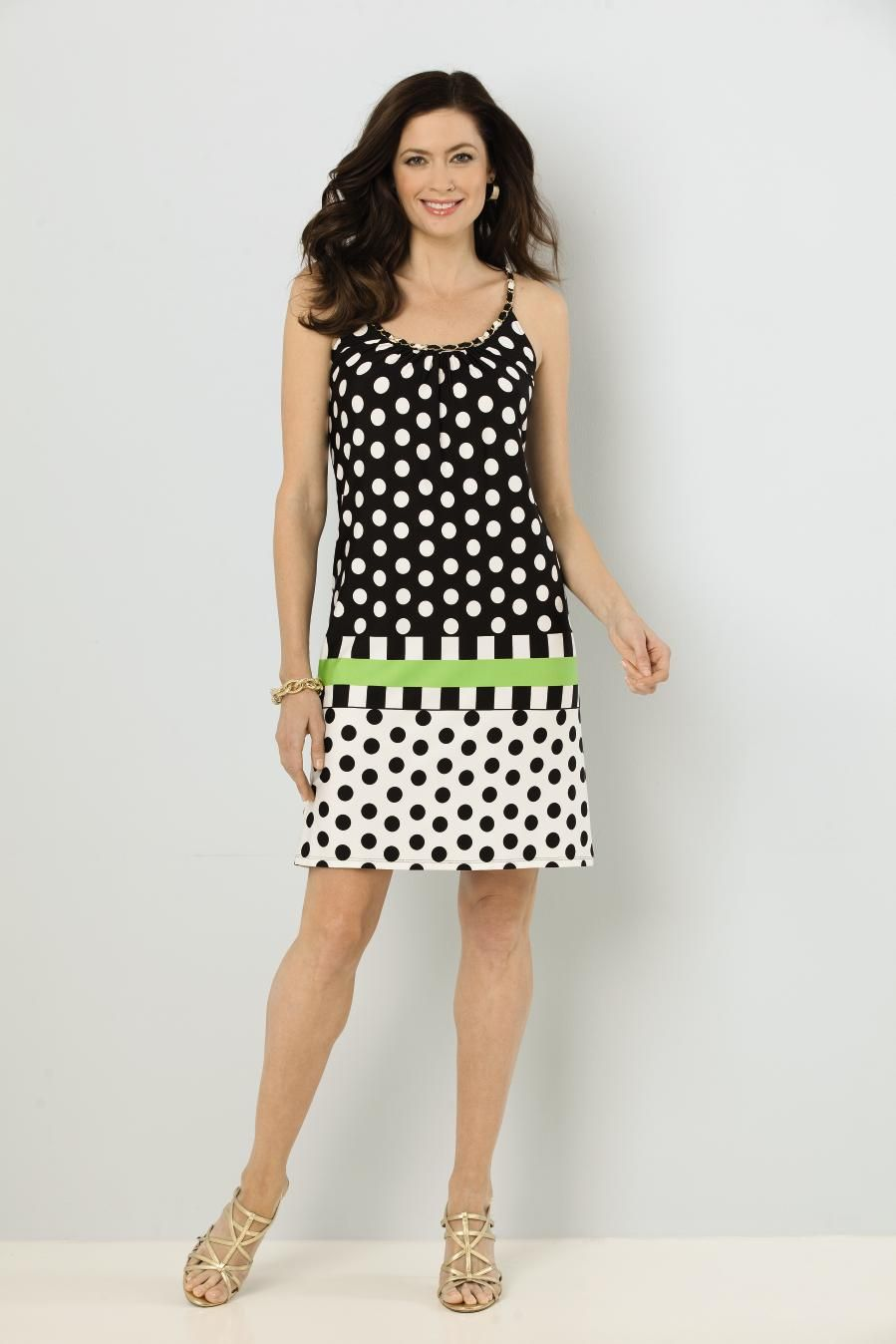 04251d996cf MSK polka dot chain strap dress.  Classic    Modern.  SteinMart ...
