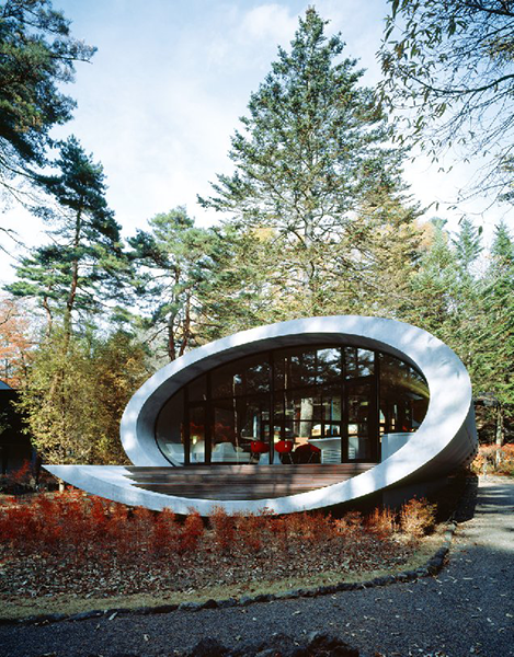 Shell House, Nagano, Japan, 2008. By ARTechnic Architects//Kotaro Ide, from <em>The Sky's the Limit.</em> Copyright Gestalten, 2012.