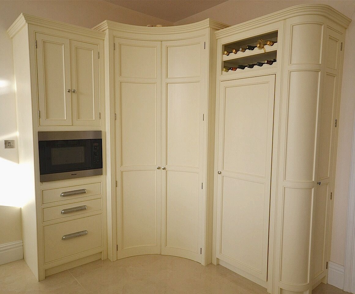 Best Bespoke Painted Kitchen Corner Larder In A Cream From 400 x 300