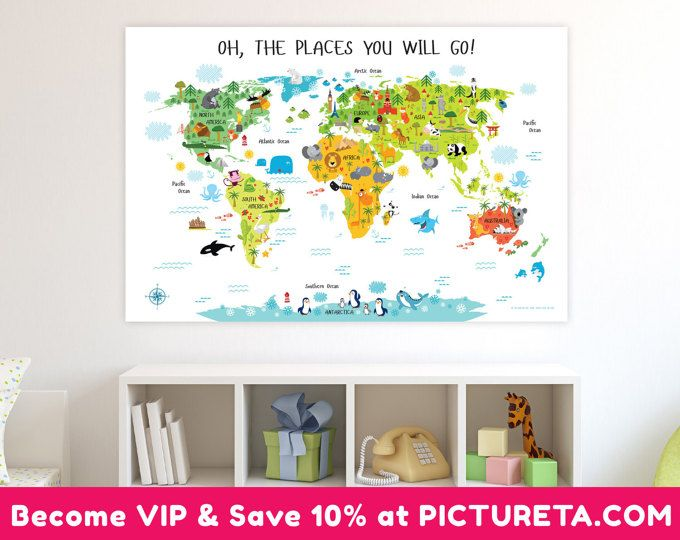 Nursery decor baby shower gifts kids world map poster unique baby nursery decor baby shower gifts kids world map poster unique baby gifts gumiabroncs Images