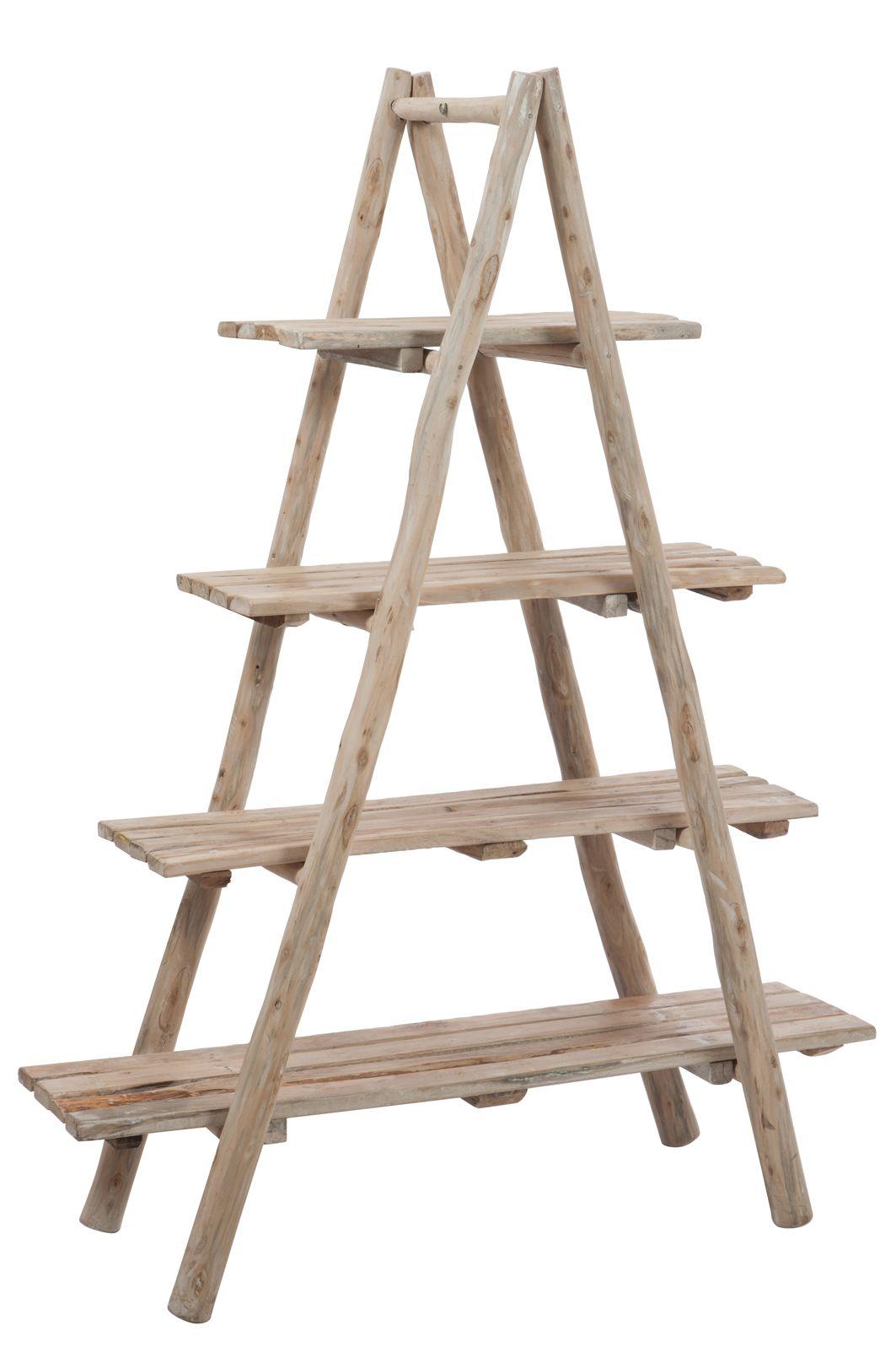 etag re pyramide 4 planches en bois naturel 160x40x120cm biblioth ques tag res ladder. Black Bedroom Furniture Sets. Home Design Ideas