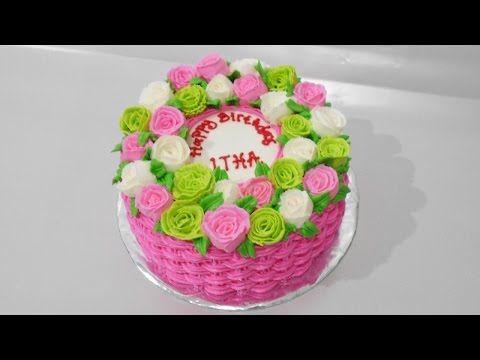 Flower Basket Cake Decoration Birthday Cake With Flowers Flower Basket Cake Birthday Cake With Photo