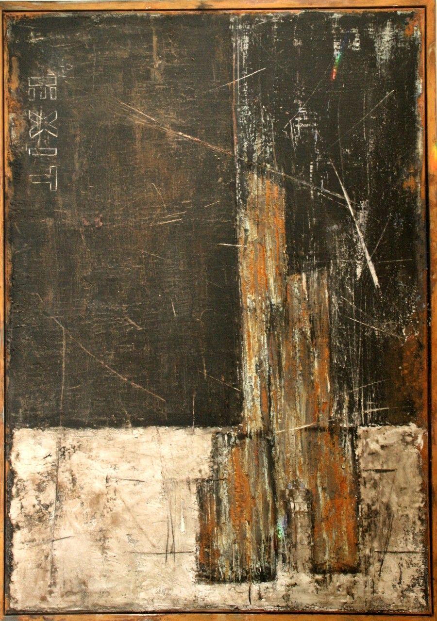 Mischtechnik auf Leinwand 100x140x2.5 cm gerahmt | abstract ...