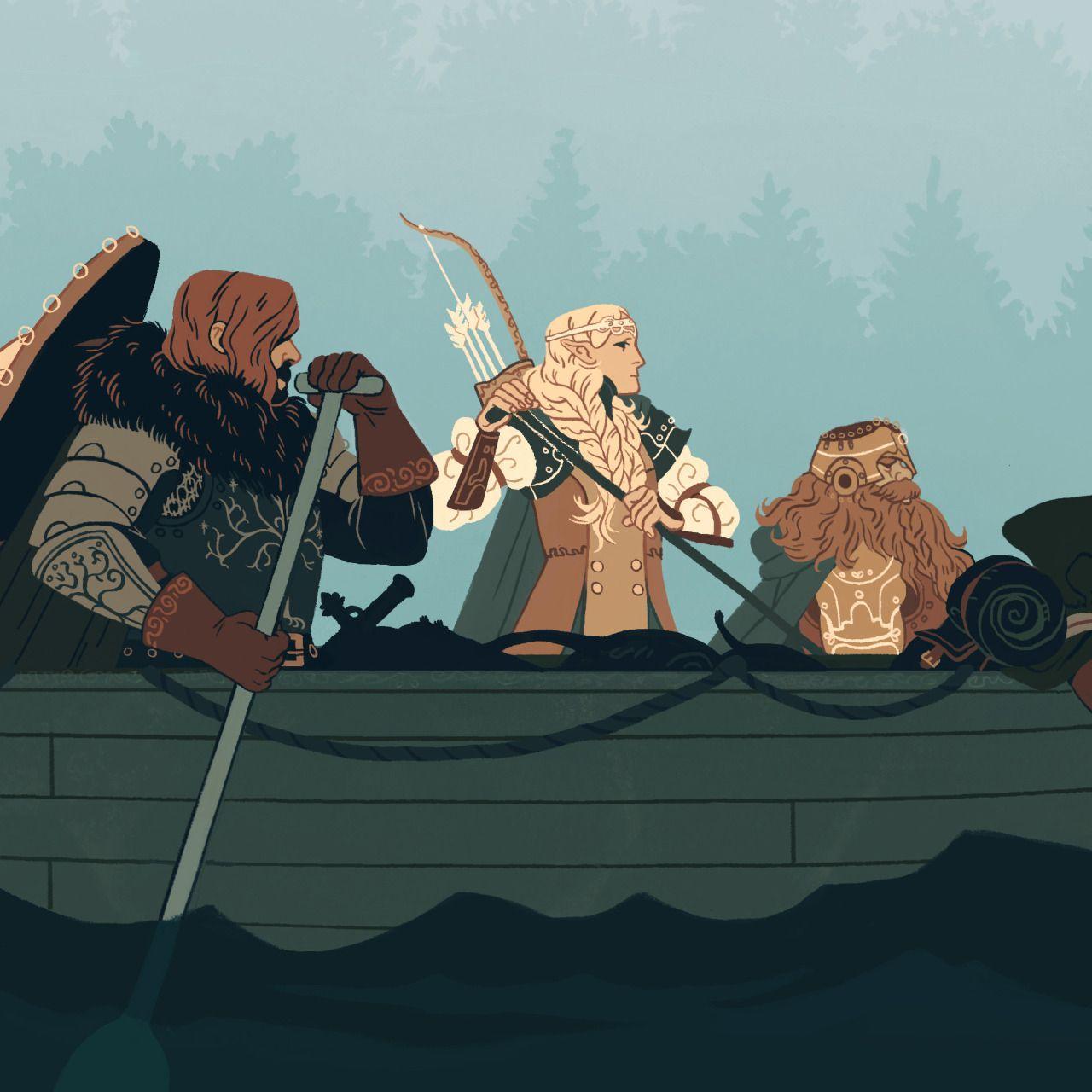 Legolas has elsa hair. Lol.still cool drawing.