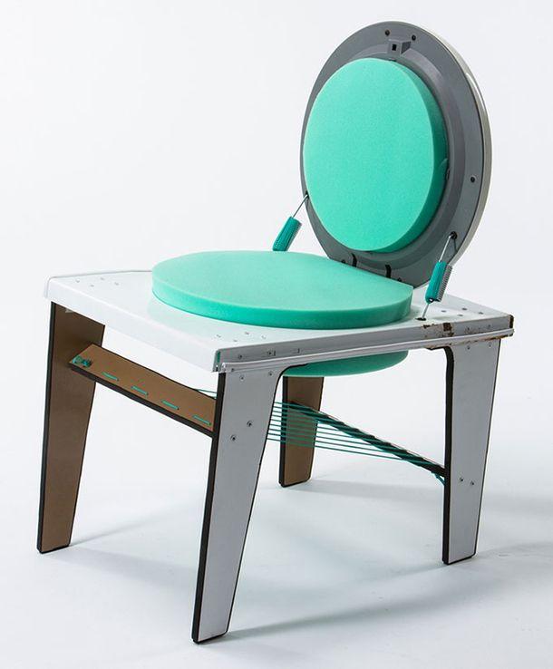 Кресло из старой стиральной машины