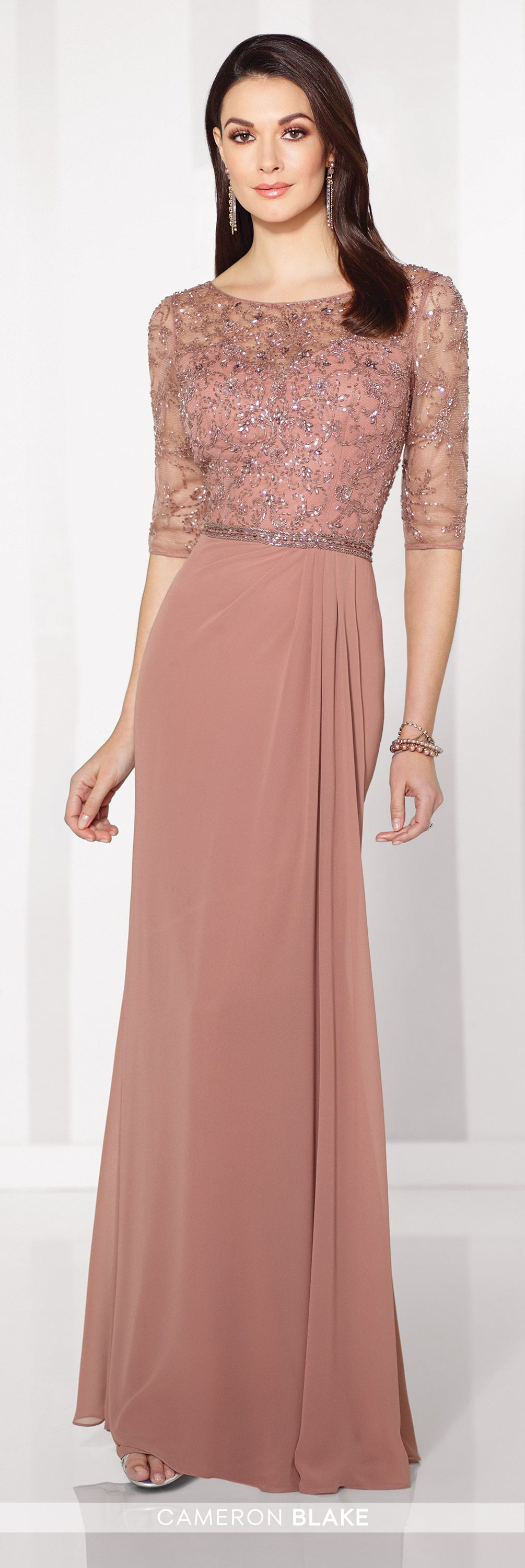 Cameron Blake 216684 Mother of the Bride Chiffon A-line Gown ...