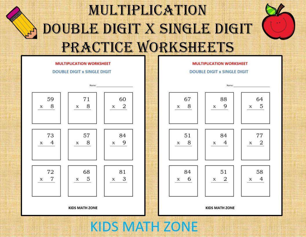 Multiplication Double Digit X Single Digit 10 Worksheets Pdf Year 3 4 5 6 Grade 3 4 5 6 Printable Multiply Math Numbers Printable Math Worksheets Kids Math Worksheets Math Worksheets