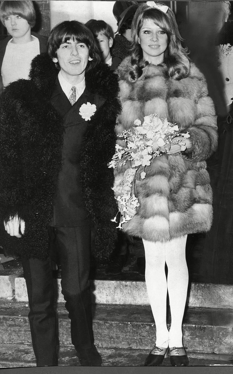 George Harrison And Pattie Boyd Wedding Day