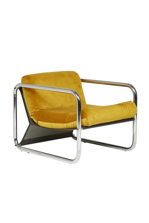 Fine 1970S Italian Armchair With Chrome Frame Ambient Evergreenethics Interior Chair Design Evergreenethicsorg