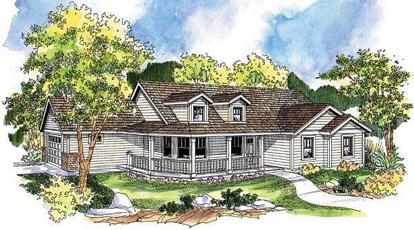 Ranch Style House Plan with 3 Bed 2 Bath 2 Car Garage