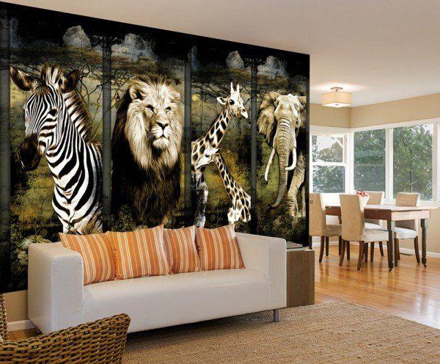Poster mural thème Afrique pour un caractère sauvage unique