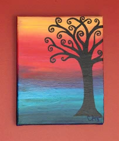 Canvas painting ideas for beginners 3 easy acrylic for Easy canvas painting ideas for beginners