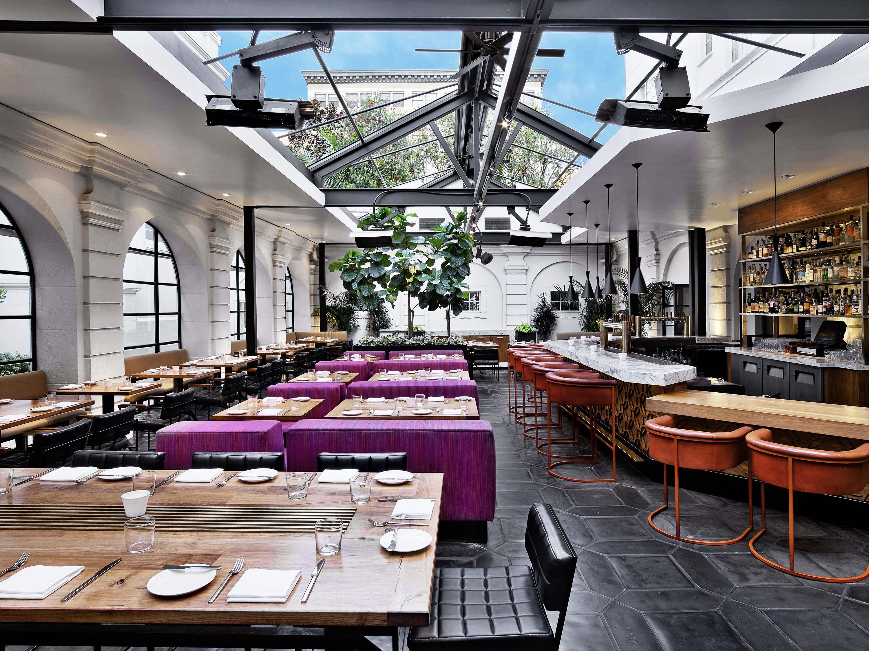 Restaurant Interior Main Dining Room Redbird Restaurants Outdoor Seating Los Angeles Restaurants Downtown Los Angeles Restaurants