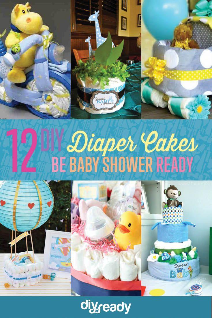 Diy Diaper Cake Ideas With Images Diy Diapers Diy Diaper Cake