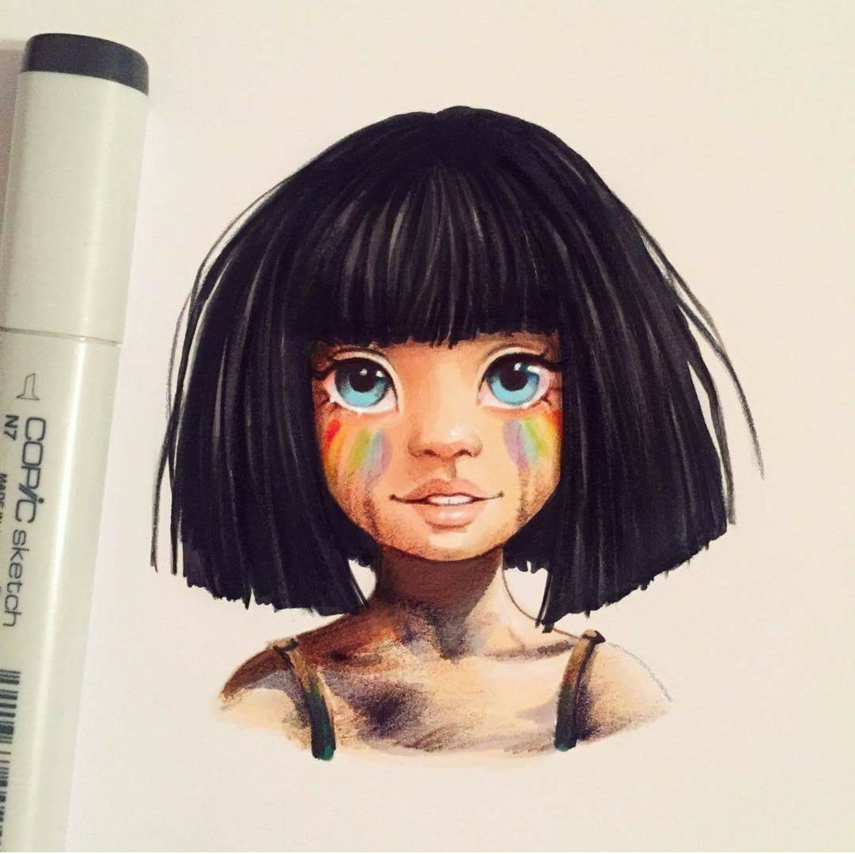 Wig Drawing Art Doodles Hair Toupee Doodle Zentangle