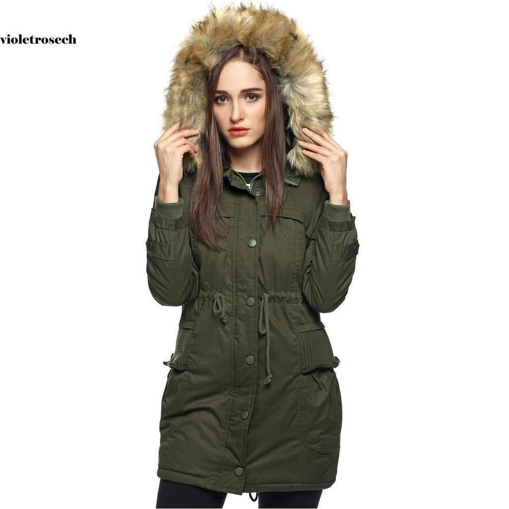 b3cd675cde75 FINEJO Women Warm Fleece Parka Faux Fur Thick Jacket Coat Hooded Outwear  VILR #fashion #clothing #shoes #accessories #womensclothing  #coatsjacketsvests ...