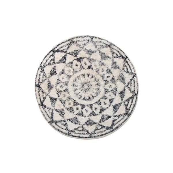 Badematten Schwarz runde badematte 80cm schwarz weiß gemustert runder badezimmer