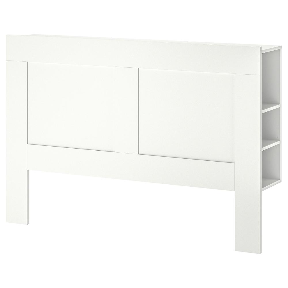 Brimnes Headboard With Storage Compartment White Queen In 2020 With Images Headboard Storage Brimnes Headboard Bed Frame With Storage