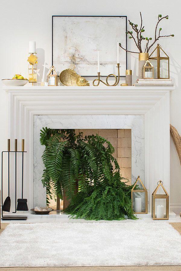 8 idées pour décorer une cheminée non utilisée   Inspiration