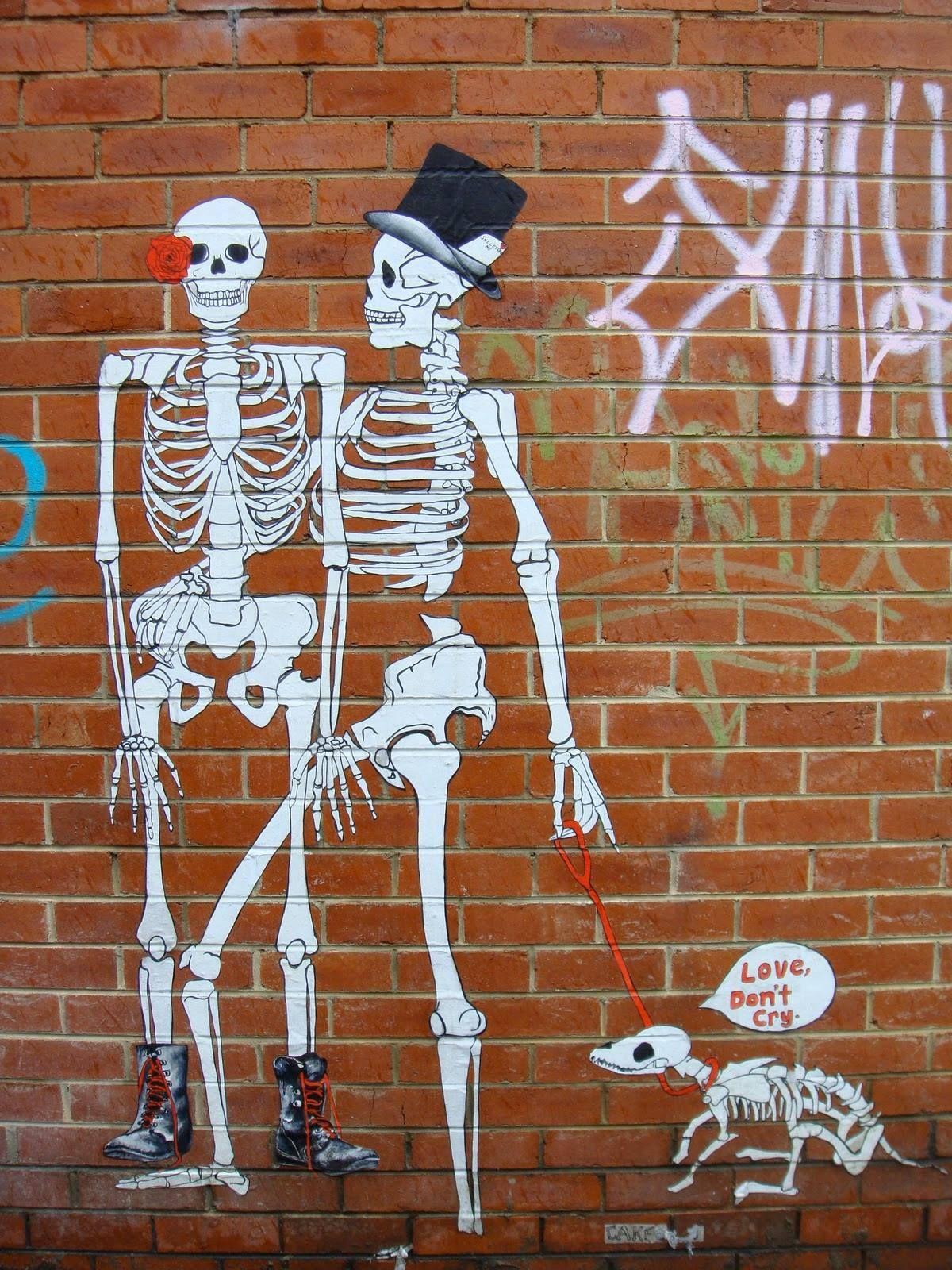 Skeleton Street art (With images) Street art banksy