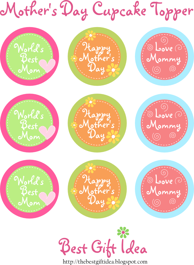 Free Printable Cupcake Toppers Mothers Day Best Gift Ideas Blog