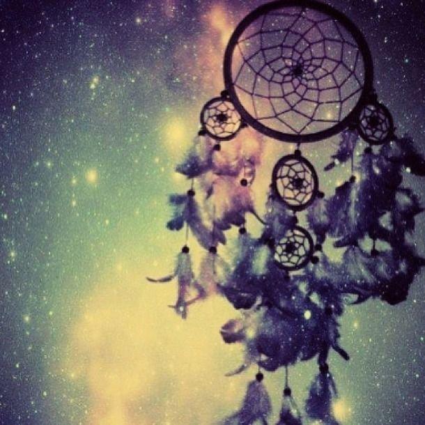 dream catcher, galaxy, stars, tumblr