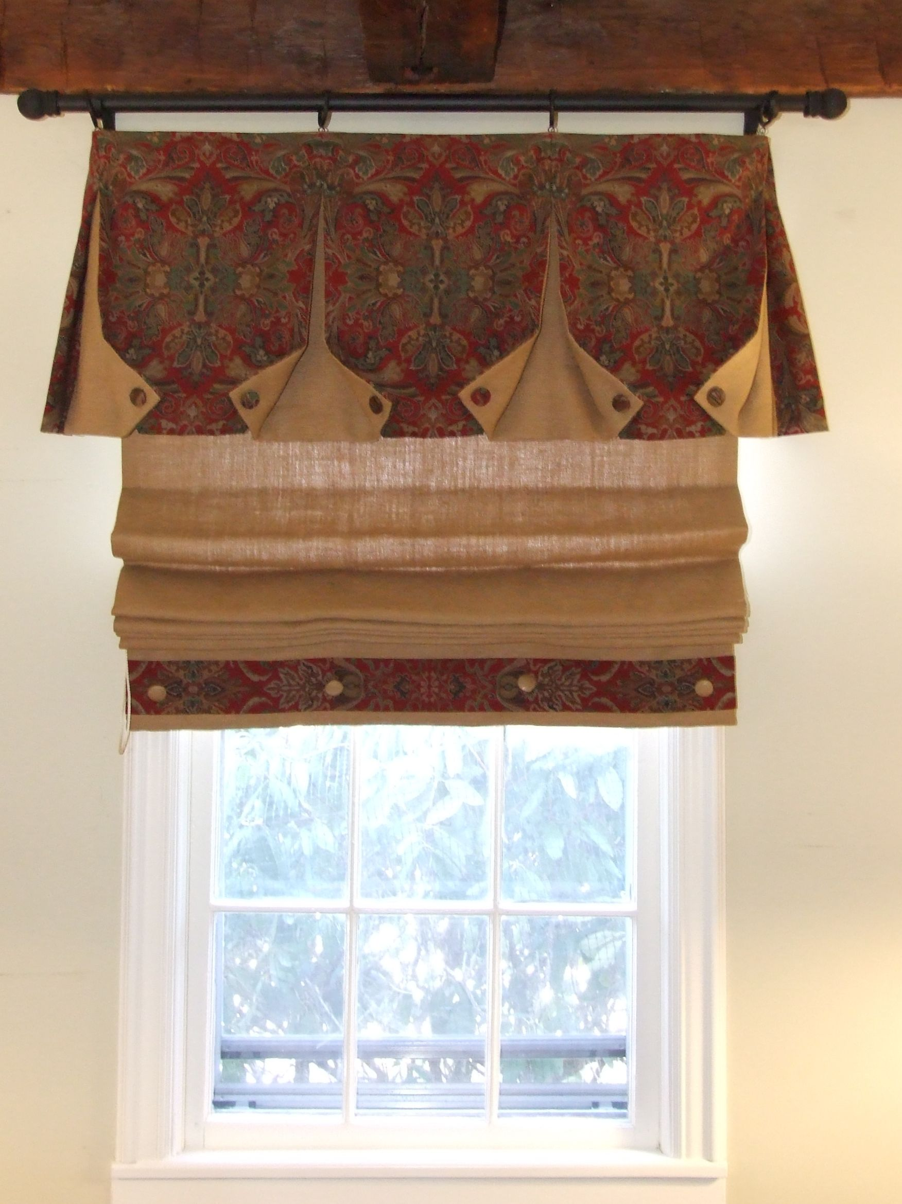 Rustic Family Room Window Treatments Great Linen With Images