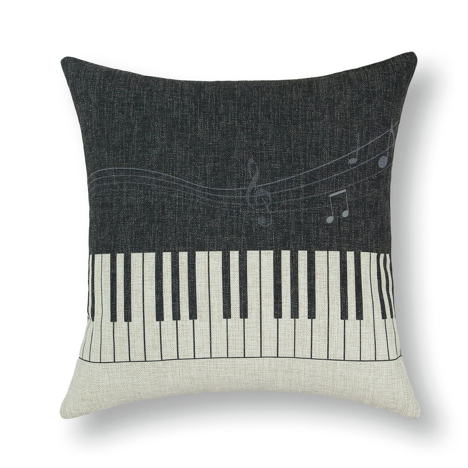 Musical Note Symphony Print Cushion Covers Pillows Shell Home Sofa