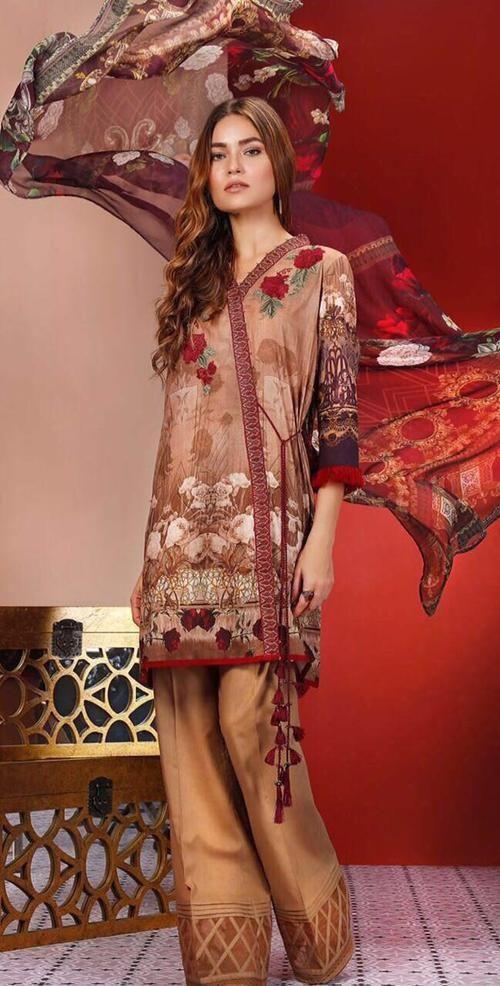 e0f3b83514 Baroque Cotton Embroidered Suit, Ladies Suit, Replica Shop Online ...