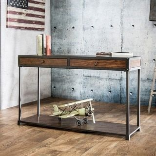 Shop for Furniture of America Thorne Antique Oak Industrial Sofa Table. Get free shipping at Overstock.com - Your Online Furniture Outlet Store! Get 5% in rewards with Club O!